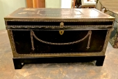 English Regency Leather Clad Campaign Trunk c.1820
