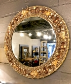 Large 20th Century Shell Mirror