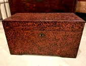 SMALL CHINESE MID-19th c. LEATHER TRUNK