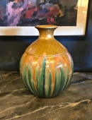 20 TH C. AMERICAN HAND THROWN POTTERY VASE