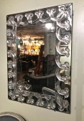 MID-20TH C. ANTIQUED MIRROR & LUCITE MIRROR