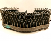 PAIR 19TH CENTURY FRENCH BRONZE AND WIRE PLANTERS/JARDINIERES