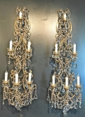 PAIR 48 INCH ITALIAN BEADED SCONCES