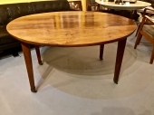 FRENCH WALNUT ROUND DINGING TABLE, c. 1840-1850