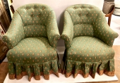 PAIR NAPOLEON III-STYLE BERGERE/CHAIR