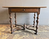 FLEMISH/DUTCH BAROQUE WRITING OR SIDE TABLE LATE 17th/EARLY 18th c.