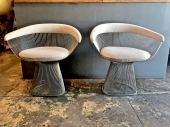 PAIR WARREN PLATNER CHAIRS