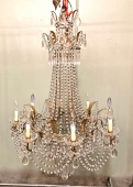 LARGE BALTIC STYLE BEADED CHANDELIER