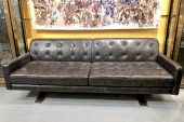ITALIAN POLTONA FRAU LEATHER SOFA