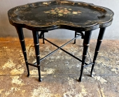 REGENCY TOLE TRAY TABLE, 19TH CENTURY