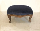 Louis XV-Style Carved Walnut Foot Stool, 19th Century