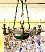 FRENCH EMPIRE-STYLE BRONZE CHANDELIER
