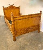 PAIR 19th CENTURY FAUX BAMBOO BEDS