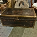 EAERLY 19TH C. CHINESE EXPORT LEATHER TRUNK