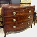 LARGE ENGLISH REGENCY BOWFRONT CHEST OF DRAWERS