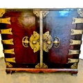 Korean Storage Chest with Butterfly Brass Detailing