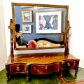 REGENCY SHERATON DRESSING MIRROR c.1810-1820