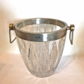 Mid-20th ccc. Cut Crystal & Silver Plated Ice Bucket