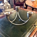 PAIR STERLING MODERNIST CANDELABRA c. 1950-60