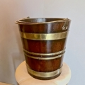 REGENCY PERIOD MAHOGANY PEAT BUCKET c.1800-1815