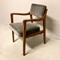 SET OF 4 EDWARD WORMLEY FOR DUNBAR MODEL 830 LOUNGE CHAIRS