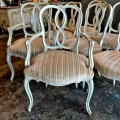 SET OF 8 RIBBON BACK DINING CHAIRS
