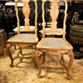 PAIR SWEDISH 18th c. SIDE CHAIRS