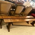 PAIR 19TH CENTURY TRESTLE BENCHES