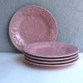 Bordallo Pinheiro Majolica Blush Dinner Plates, Set of 5