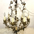 FRENCH FLORAL CHANDELIER, 19TH CENTURY