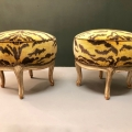 PAIR 18TH CENTURY LOUIS XV FOOTSTOOLS