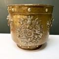 FRENCH ARMORIAL LOG BIN