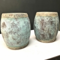 PAIR CHINESE COPPER WATER OR RICE BARRELS, EARLY 19TH CENTURY