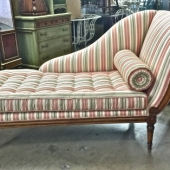 FRENCH DIRECTOIRE-STYLE RECAMIER/DAYBED