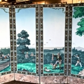 EARLY 19TH C. FRENCH ZUBER WALL PAPER SCREEN