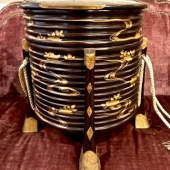 JAPANESE LACQUER HATBOX---MEIJI PERIOD