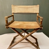PAIR MCGUIRE DIRECTOR'S CHAIRS, c.1960